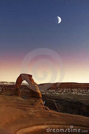 Delicate Arch in Arches National Park,