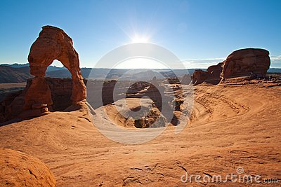 Delicate arch in Arches, Utah