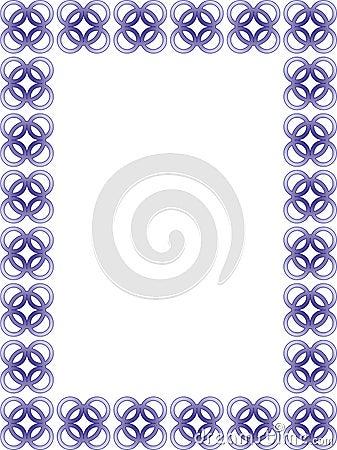 Delicate blue border - vector