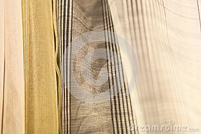 Delicate curtain fabric samples