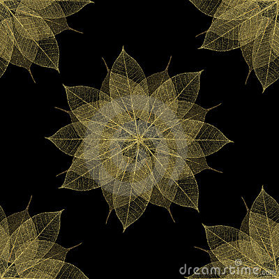 Delicate floral pattern leaf texture