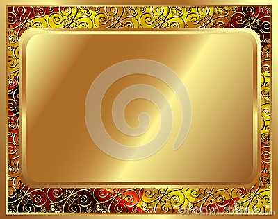 Delicate gold frame with pattern 2