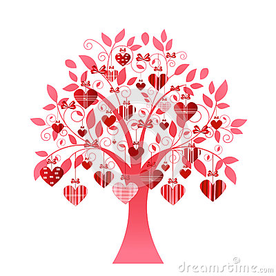 Free Delicate Heart Tree Royalty Free Stock Photography - 37098077