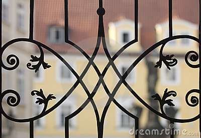 Delicate metal fence