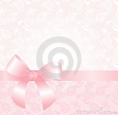 Delicate pink lace background