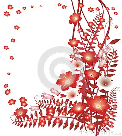 Delicate red flowers