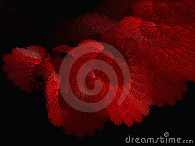 Delicate red structures