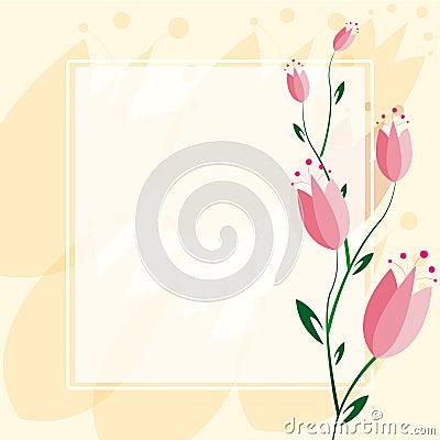 Delicate Tulip Background