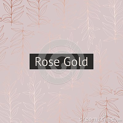 Free Delicate Vector Pattern With Branches With Imitation Of Rose Gold Stock Photos - 121598563