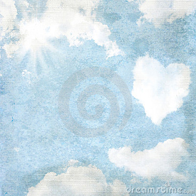 Delicate vintage background - heart-shaped