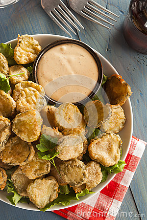 Free Delicious Battered Fried Pickles Stock Photos - 40839303