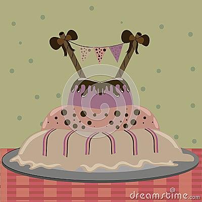 Delicious big cake
