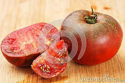 Delicious black tomatoes