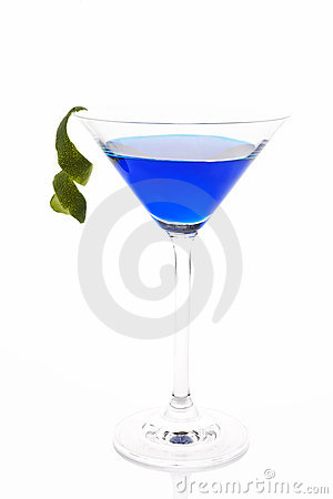 Delicious blue cocktail.