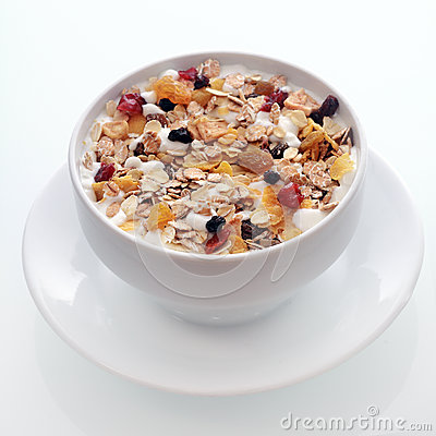 Free Delicious Breakfast Muesli With Fruit And Nuts Royalty Free Stock Photo - 44571505