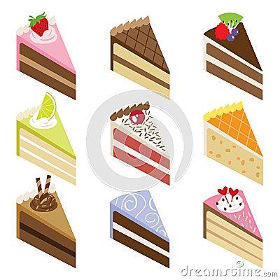 Slice Birthday Cake Stock Illustrations – 1,325 Slice Birthday ...