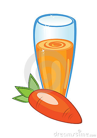 A delicious carrot juice