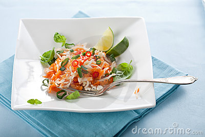 Delicious carrot salad