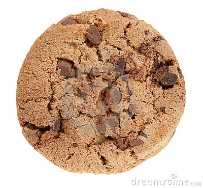 Delicious chocolate chip cookie