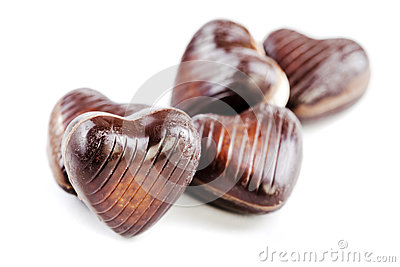 Delicious  chocolate hearts