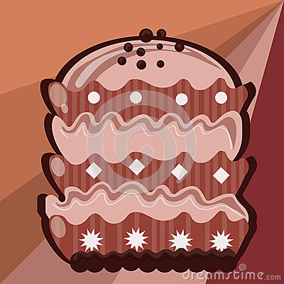 Delicious chocolate pink cake