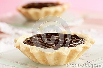 Delicious chocolate tarts