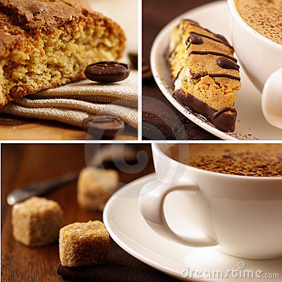 Free Delicious Coffee.Collage Stock Image - 7790641