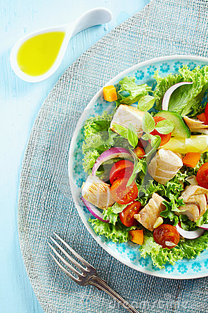 Free Delicious Cold Seafood Salad Royalty Free Stock Image - 31589426