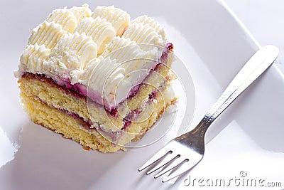 Delicious cream cake dessert