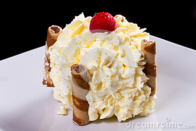Delicious cream dessert