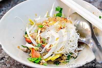 Delicious cuisine dry noodle, thai style.