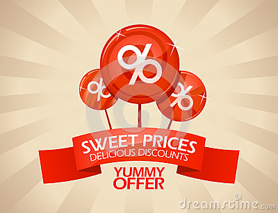 Delicious discounts design.
