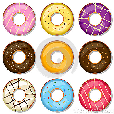 Free Delicious Donuts Collection Stock Photo - 24847850