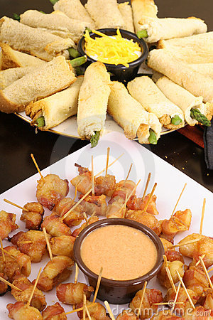 Delicious finger food appetizers