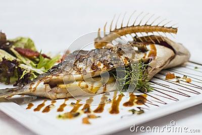 Delicious fish kebabs