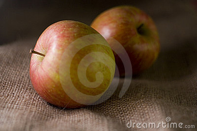 Delicious fresh red apples of seasonal