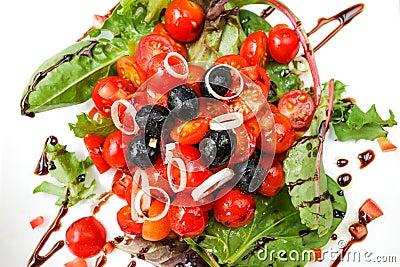 Delicious fresh tomatoe salad