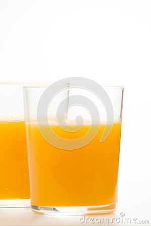 A delicious freshness orange juice
