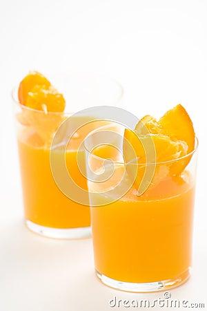 A delicious freshness orange juice
