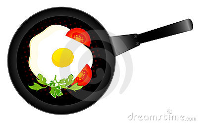 Delicious fried eggs