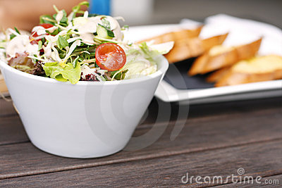 Delicious garden salad