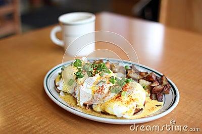 Delicious gourmet breakfast