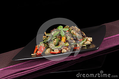 Delicious grilled vegetable mix.