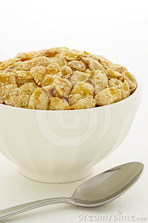 Delicious and healthy frosted cornflakes