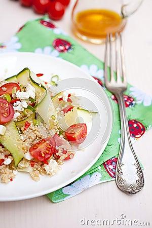 Delicious and healthy quinoa salad