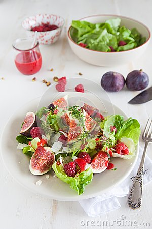 Delicious and healthy salad