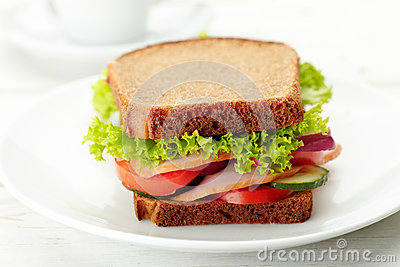 Delicious and healthy sandwich
