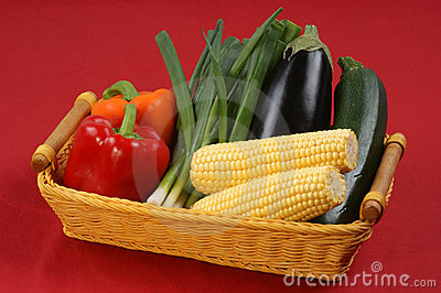 Delicious and healthy vegetable in a basket