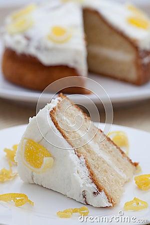 Delicious homemade lemon sponge cake