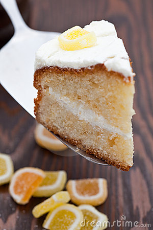Delicious homemade lemon sponge cake
